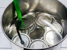 Стерилизация крышек для сока иван-чая