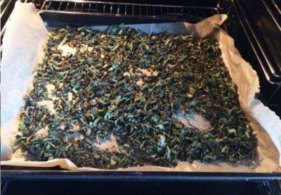 Сушка иван-чая в духовке